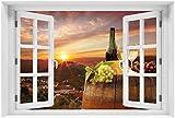 Wallario selbstklebendes XXL Poster - Wein Romantik -