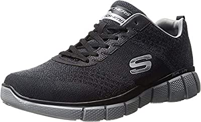 Skechers Sport Men's Equalizer 2.0 True Balance Sneaker,Black/Charcoal,10 4E US