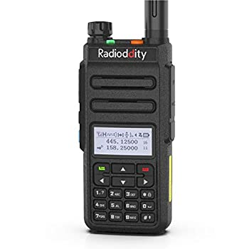 Radioddity GD-77 DMR Digital/Analog Two Way Radio Dual Band Dual Time Slot Work with Hotspot Amateur Ham Radio w/Free Programming Cable High Gain Antenna and Charger