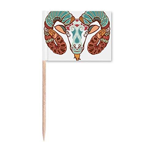 Widder Sternbild Sternzeichen Symbol Zahnstocher Flaggen Marker Topper Party Dekoration