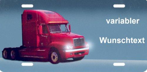 Freightliner Nummernschild US-Truck Freightliner selbst Gestalten und Bedrucken Witterungsbeständig Farbecht Ideale Geschenkidee | Metallschild, Aluminium-Schild als individuelles Trucker-Accessoire | LKW-Zubehör selbst gestalten | Aluschild, Kennzeichen-Schilder mit Namen & Wunschtext