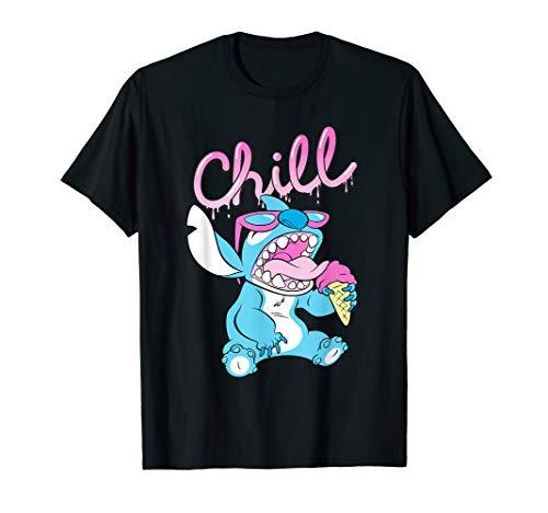Disney Lilo and Stitch Neon Ice Cream Chill Drip T-Shirt