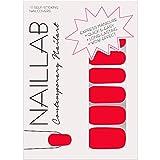 NAILLAB Nagelfolie - 16 selbstklebende Nagelfolien - zertifizierte Hautverträglichkeit - wie Nagellack zum Aufkleben - langanhaltende Nagelaufkleber