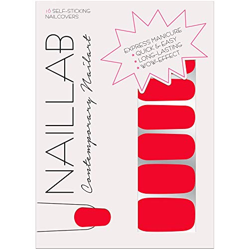 NAILLAB Nagelfolie - Selbstklebende Nagelsticker - Langanhaltende Nagelaufkleber - Hochwertige Nagel Sticker - Nail Design Art - Nagellack Folie (NEUE FORMEL)