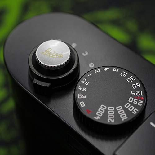 PEIPRO Metal Brass Gold Concave Shutter Release Button 8mm for Leica M10, M240, M-P, ME、MM,M9P.M9.M8.MP.M7.M6.M5.M2,M1 -XS103