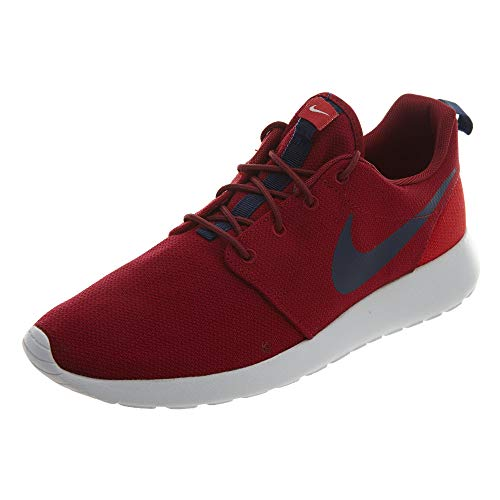 NIKE Men's Roshe One Red Crush/Midnight Navy Running Shoe 7.5 Men US