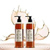 Prija Haut & Haarshampoo und Duschgel mit Ginseng mit 2 praktischen Spendern – 2x 380 ml rein...