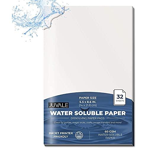 Notizblock, wasserlöslich, weiß, blanko, Spionagepapier, 14 x 21,8 cm
