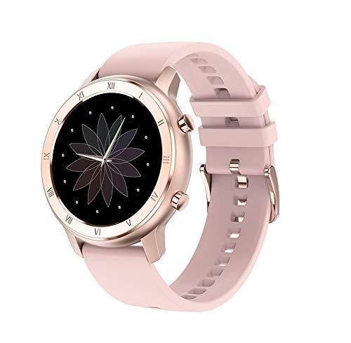 YFC Reloj Inteligente Full Touch para Mujeres, rastreador de Ejercicios con Monitor de sueño y presión Arterial, Pulsera Impermeable IP68, Contador de Pasos de calorías, para iOS Android