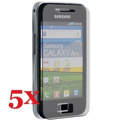 Samsung Galaxy Ace S5830i S5839i thematys® Protector de Pantalla 5X Pulido paños Protectores