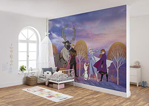 Komar Frozen Autumn Forest | Afmetingen: 400 x 280 cm (breedte x hoogte), baanbreedte 50 cm | behang, muurfoto, decoratie, muurbekleding, kinderkamer, slaapkamer | DX8-013 vlies fotobehang, kleurrijk