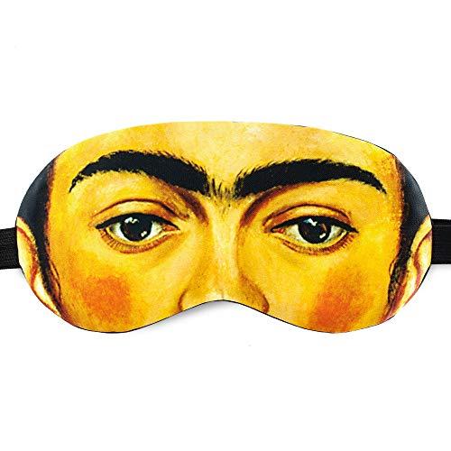 Night Sleeping Mask Cover Blackout Eyes Mask Frida Kahlo for Women Girls - 100% Soft Cotton - Comfortable Eye Sleeping Mask Night Cover Blindfold for Travel Airplane