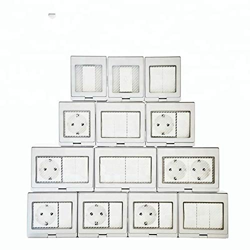 GUODONG MAYE2021 Alemán en Superficie Impermeable Interruptor de la Pared del zócalo Muro de Rusia Alemana de la UE Socket (Color : IP55 EU 2C, Standard : EU Standard)
