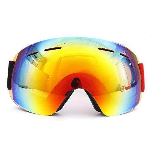 WCHAOEN Snowboard Skibrille Double Lens Anti Fog UV400 Motorrad Unisex Erwachsene Sportbrillen Ersatzteile