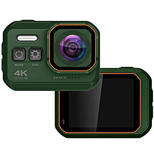 KDMB Cámara de Video Digital 4K WiFi Action Camera IP68 Cámara de Buceo Impermeable con Pantalla IPS de 2.0 Pulgadas Cámara Deportiva Ultra HD de 16MP Sports DV Wide, 2