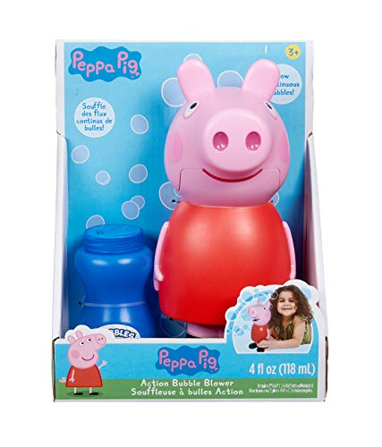Little Kids Peppa Pig Action Bubble Blower and Includes Bubble Solution (1719E)