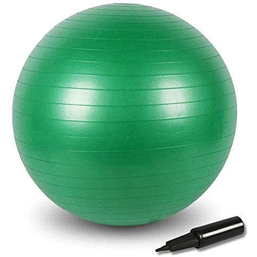 BIGTREE - Balón de gimnasia para yoga, pilates Core Training, yoga con bomba (verde, 65)
