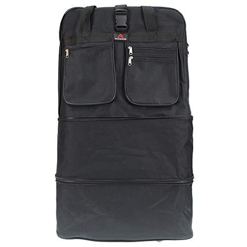 Alexander Bolsa de Viaje Extra Mochila Extensible con Ruedas 91x48x33 cm Capacidad de 144L (Negro)...