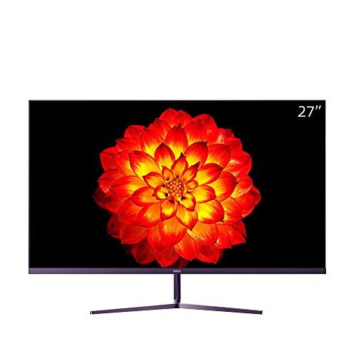 CHiQ LED-IPS-Monitor 5 ms, 3-seitig, Rahmenlos und ultraschlank, HDMI-DP-Eingänge, USB nur zum Aufladen, Lowblue-Modus, flimmerfrei, Freesync ?Vesa-kompatibel (27-Zoll, Full HD)