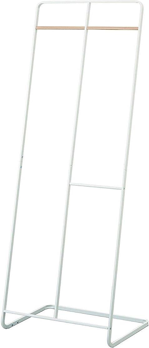 フェンスくびれた声を出してコートハンガー ワイド タワー tower ハンガーラック ポールハンガー 衣類収納 玄関収納 おしゃれ スリム パイプハンガー アイアン 山崎実業 [ホワイト]