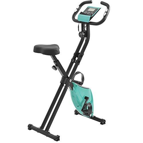 Weiyue Bicicleta de Ciclismo Interior Bicicleta de Ejercicio Plegable estacionaria con Respaldo y Monitor LCD & Resistencia Ajustable para Entrenamiento Muscular Entrenamiento Resistencia-