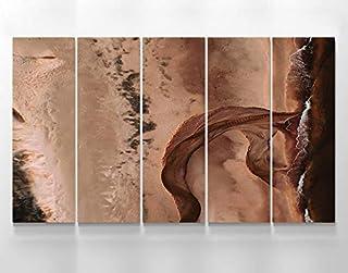 Tableau mural abstrait en marbre abstrait - Impression murale en marbre - Brun - Panneaux muraux modernes - Décoration de ...