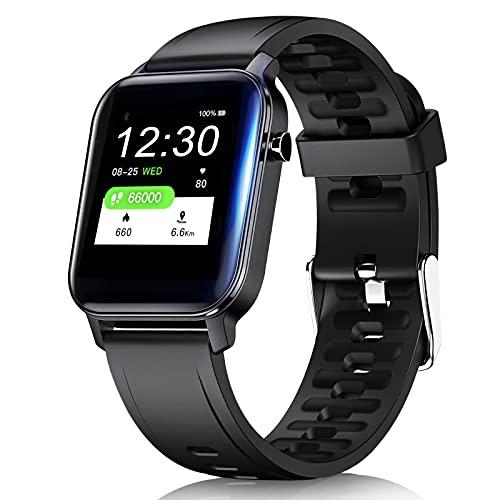 Smartwatch, Fitnessuhr 1.3 Zoll Touch Screen Fitness Tracker mit Pulsuhr, Smart Watch IP68 Wasserdicht Smartwatches mit Schrittzähler Pulsmesser Sportuhr für Damen Herren Sportuhren für iOS Android
