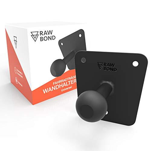 RAWBOND® Wandhalter für Fahrradträger | Inkl. Schrauben, U-Scheibe & Dübelsatz | Extra Lange Wandhalterung für deinen Fahrradheckträger | Halterung passend für jeden Fahrradträger