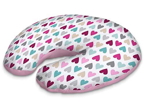 Stijlkussen slaapkussen zitkussen zuigeling moeder katoen [093] 60 x 40 x 10 cm harten