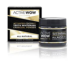 Active Wow Teeth Whitening Charcoal Powder Natural (our best alternative to Power Swabs)