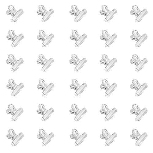 Clips De Bulldog Clips De La Carpeta Pinzas Para Etiquetas Bulldog Papel Clips Binderclips Clips De Extensión De Uñas De Plástico Para Manualidades, Dibujos, Fotos Para Uñas, 30 Piezas