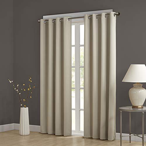 Comfort Spaces Blackout Grommet Top Window Curtain Panel Pair Noise...