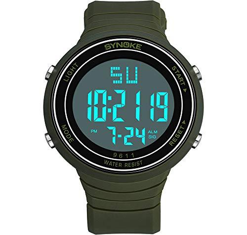 Reloj Digital Mujer Hombre CronóGrafo EléCtrico Alarma MultifuncióN Blanco Negro Correa De...