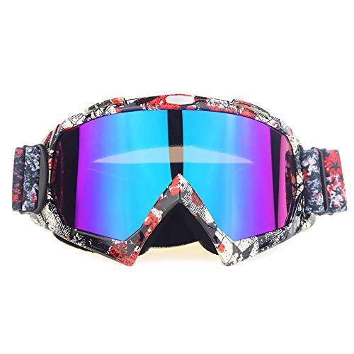 Zfeng Gafas de deportes al aire libre Off-road downhill moto equitación equipo esquí anti-viento y arena salpicaduras gafas anti-impacto y polvo protección ocular-Q