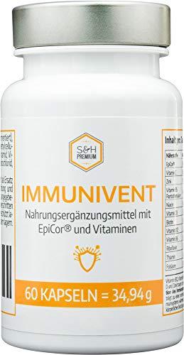 Immunivent mit EpiCor® und Vitaminen zur Unterstützung des Immunsystems 60 Kapseln