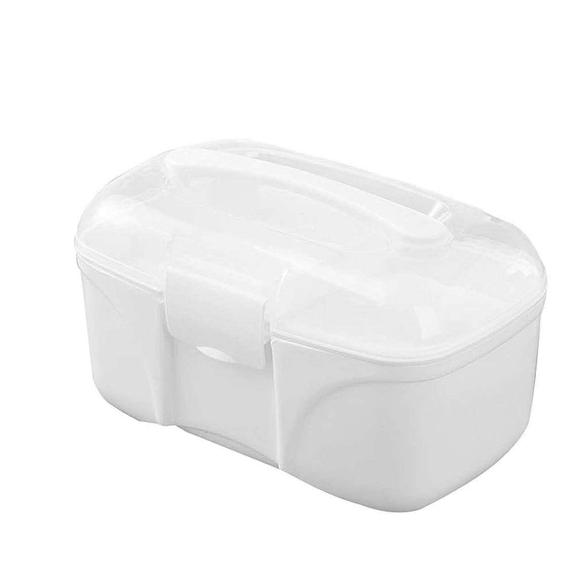 スキップ農学クモLWBUKK プラスチック製の薬の収納ボックス、小さなポータブル医療救急キット、ポータブルの薬箱、家庭用おもちゃ収納ボックス 医療箱