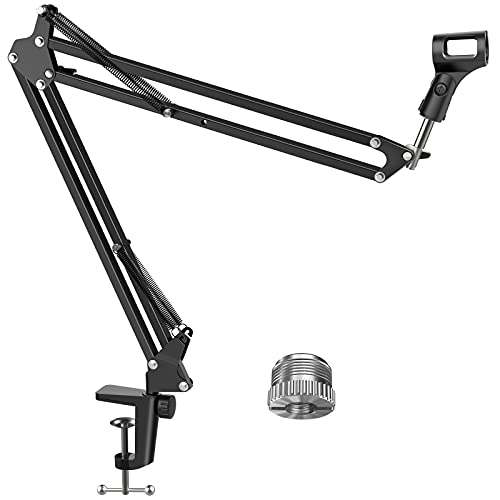 """InnoGear Microphone Arm, Upgraded Mic Arm Microphone Stand Boom Suspension Stand with 3/8"""" to 5/8"""" Screw Adapter Clip for Blue Yeti Snowball, Yeti Nano, Yeti x and other Mic, Large"""