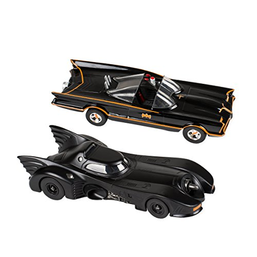 2 Pc Set - 1966 and 1989 Batmobiles Free Wheeling Die Cast 1:32 Scale Toys