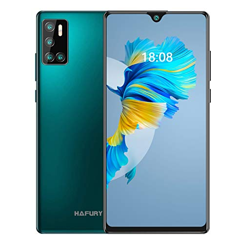 Günstiges Smartphone ohne vertrag, 128GB Speicher, 256GB erweiterbar,6.2 Zoll Bildschirm, Android 10 Handy mit AI Quad Kamera, 4200mAh großer Akuu, HAFURY G20 Deutsch Version (Grün)