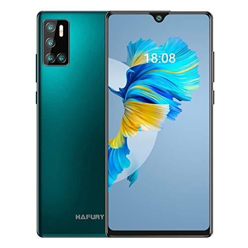 Smartphone económico sin contrato, memoria de 128 GB (256 GB ampliable), pantalla de 6,2 pulgadas, Android 10 con cámara AI Quad de 4200 mAh, gran batería, versión alemana HAFURY G20, color verde