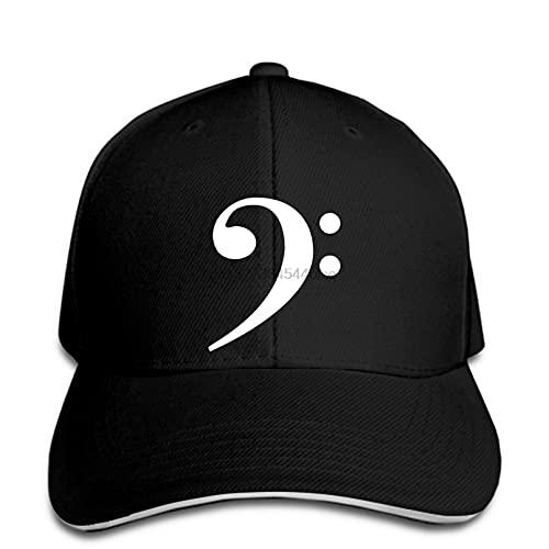 OEWFM Gorra béisbol Que Imprime Capa Intermedia Blanca del Borde Negro Gorra béisbol Informal para Hombre Detalles sobre Banda con símbolo música Gorra béisbol para Guitarra Gorra béisbol para