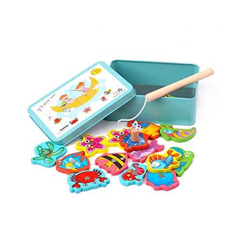 LIANA IRWIN - Juguetes de pesca magnéticos en caja de hierro para...