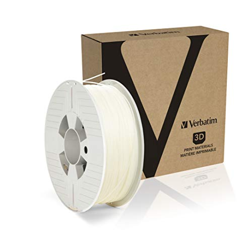Verbatim 3D Printer Filament, PP 1,75mm, 0,5 kg Transp, (1,75mm, 0,5 kg Transp. Transparent/Natural), 55952