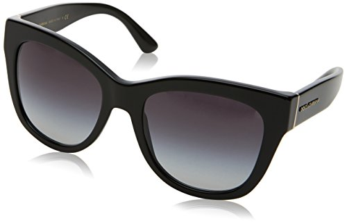Dolce & Gabbana Damen 0DG4270 501/8G 55 Sonnenbrille, Schwarz (Black/Gradient)