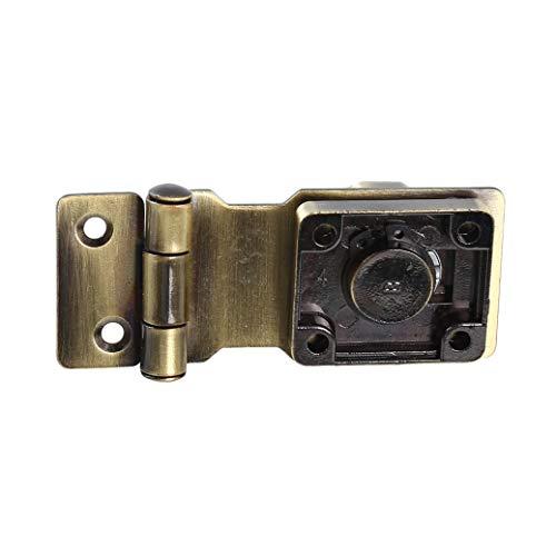 GUYAQ Keyed Hasp Lock Zinc Alloy Padlock Hasp with Key Door Bolt Latch Buckle Twist Knob Locking for Doors Cabinets Furniture Boxes Hardware Supplies (Style 1)