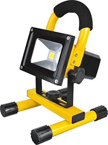 LED-Baustrahler mit Akku   10 Watt   Baustellenlicht (Gelb)