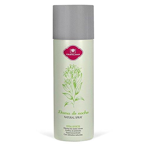 CRISTALINAS. Ambientador & Absorbe Olor Natural Spray. Ultra Concentrado. Aroma: (Dama de Noche)