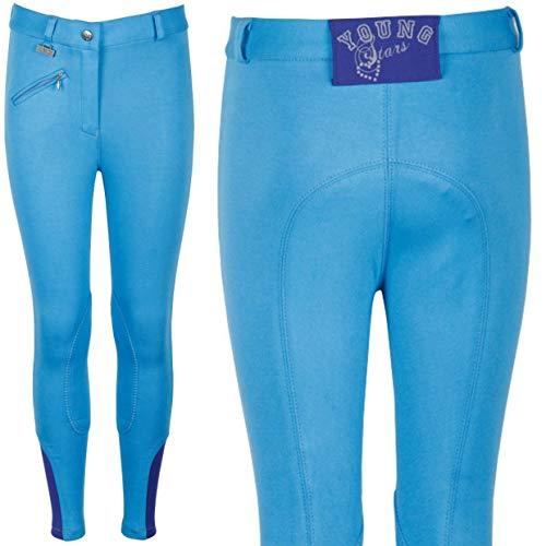 Harry´s Horse Reithose Youngrider Kniebesatz, Farbe:hellblau, Größe:140