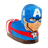7701-3 - Marvel Classic Avengers - Captain America Slippers - Medium/Large - Happy Feet Mens and Womens Slippers