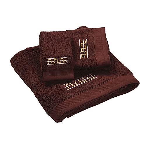 Westward Ho! 1133DB Destino - Juego de toallas (3 piezas, 1 unidad), color marrón